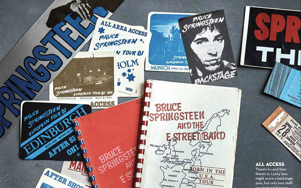 Tour items from the Archives