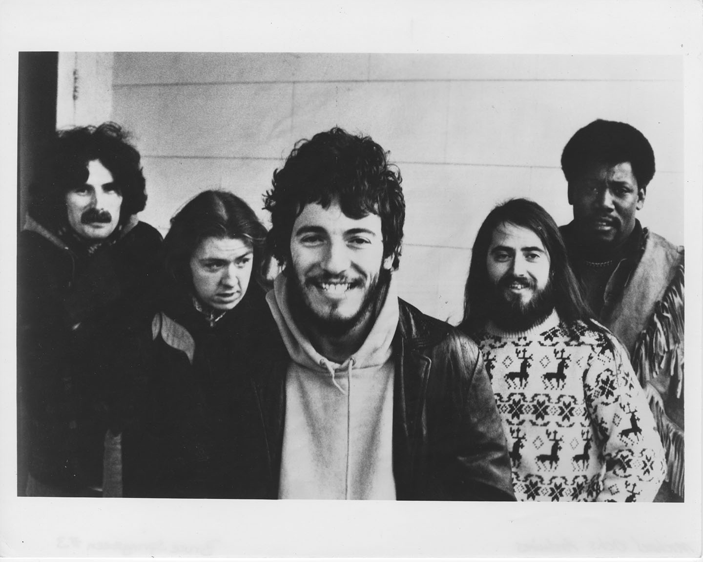Bruce and E-street Band 1974 - Vini Lopez, Danny Federici, Bruce, Garry Tallent, Clarence Clemons