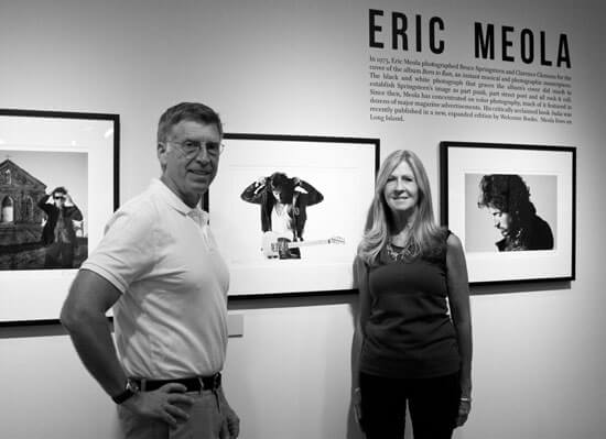 Bob Santelli and Eileen Chapman, Rechnittz Gallery at opening of Springsteen: A Photographic Journey exhibit